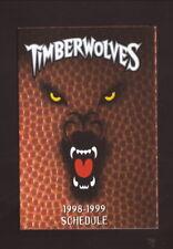Minnesota Timberwolves--1998-99 Pocket Schedule--Pepsi
