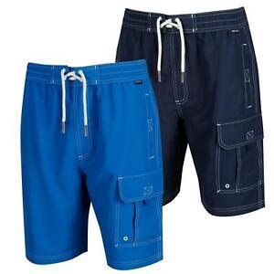 Regatta Mens Hotham III Board Shorts Swim Swimming Gym Long Mesh Lined