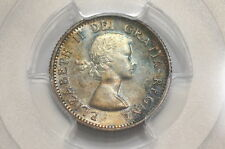 1953 CANADA SILVER 10 CENTS & NO STRAP MS65 PCGS & ATTRACTIVE TONING A97 CG34