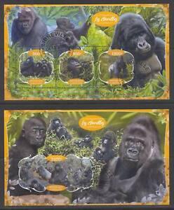 SVVGTA D79 limited 2019-2020 Fauna Wild Animals Gorillas 2 sheets