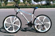 "New 26"" Carbon Steel Frame Bicycle Shimano 21 Speed Disc Brake 6 Spokes Bike"