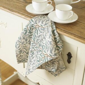 William Morris Willow Bough Green Cotton Floral Tea Towel