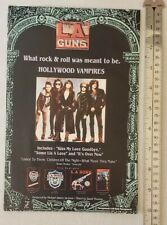 L.A. Guns Band Rare Print Advertisement