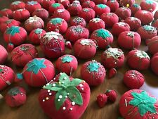 72 Vintage Tomato Strawberry Pincushions Collection Primitive Sewing Decor Lot