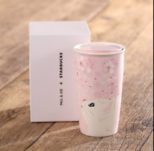 MUG STARBUCK PAUL&JOE DOUBLE WALL CERAMIC-Cherry Blossom-Cat Pink-Limited editio