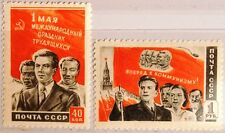 RUSSIA SOWJETUNION 1950 1461-62 Tag der Arbeit Labor Day Fahne Flagge Flag MNH