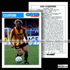CLIJSTERS LEO (FC MALINES) - Fiche Football / Voetbal 1989