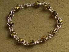 silver 925*  BALTIC  green    AMBER  BRACELET WOMEN