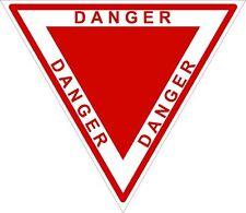 1x DANGER TRIANGLE RED WARNING VINYL STICKER BUMPER NEW