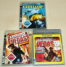 3 PLAYSTATION 3 giochi raccolta-Tom Clancy 's Vegas 1 & 2 & Hawx-FSK 18-ps3