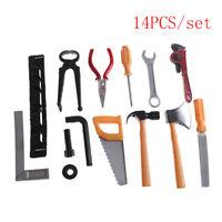 14Pcs Kids Gift  Boy Building Repair Plastic Tool Kits Set Construction Toy QA