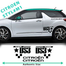 Citroen C3 DS3 racing side stripes graphics decals stickers voiture authentique taille