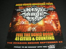 KISS Alive 35 The 2009 North American Tour original PROMO DISPLAY AD mint cond
