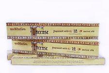 4 Boxes of Meditation Range Incense - Blend of 12 Essential Oils - 96 Sticks