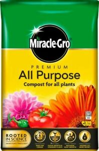 Miracle Gro All Purpose Enriched Compost 50 Litre Garden Planting Growing Soil
