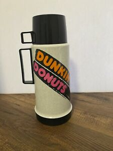 """Vintage Dunkin' Donuts Thermos 38606 11 1/2"""" Tall Complete with Cup"""
