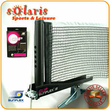 SUNFLEX CLIP Spring Loaded Clip Type Table Tennis Net & Post Set Free Net Check