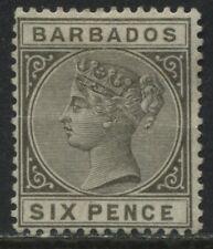Barbados QV 1882 6d olive gray mint o.g.