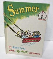 Dr. Seuss Beginner Book SUMMER 1963 1st ED Alice Low RARE VG SUMMERTIME