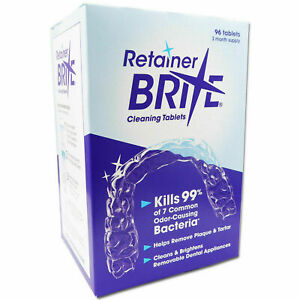 Retainer Brite Sample x 20, x36 or x 40 , x 96 Tablets, Cleaning