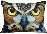 "FILLED EVANS LICHFIELD OWLS EYES MADE IN THE UK CUSHION 17""X13""- 43X33CM"