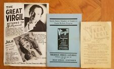 The Great Virgil Three Pieces of Ephemera