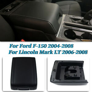 For Lincoln Mark LT 2006-2008 Center Console Arm Rest Lid Cover Pad Black