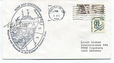 1966 Noaa Ship Discoverer Mapping Research Seattle Polar Antarctic Cover SIGNED