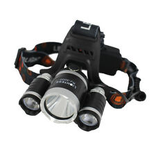 Camphelper Waterproof Hunting LED Headlight Headlamp Head Torch with 3 T6 LED AY