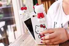 For Apple iPhone 6 6s & 6plus/6s+ PEEKABOO HELLO KITTY 3D Cute Cartoon Back Case
