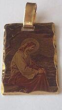 DIAMOND CUT Laser Image - JESUS Gold gp Plated Pendant