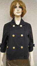 Juicy Couture moto goth steampunk military pea jacket coat sz L XL new nwt $275