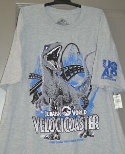 Universal Studios Jurassic World VelociCoaster Adult T-Shirt X-Large Pass Holder