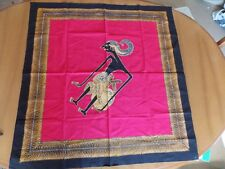 "Cloth Black Lady Red Background Table Cloth - Wall Hanging - Scarf 35"" x 33 1/2"""