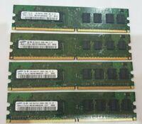 SAMSUNG 4x 1GB= 4GB RAM MEMORY DD2 1Rx8 PC2 - 6400U-666-12-ZZ for desktop PC hp
