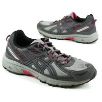 Asics Womens Size 10 Gel Venture 6 T7G7N (D) Trail Running Shoes Gray Pink
