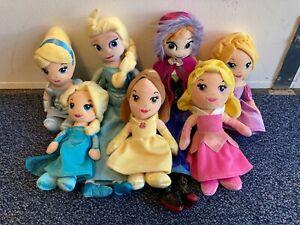 Disney Princess Soft Plush Toy Doll Bundle Frozen Cinderella Belle Elsa C70