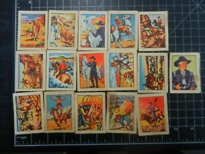 Fyna Foods HOPALONG CASSIDY Wild west 16 trading cards
