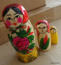 bulk of 2 sets 3 pcs traditional Wood Hand painted Russian Nesting Doll 2.7""