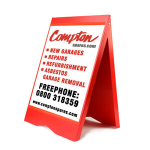 A-BOARD PAVEMENT SIGN MENU SANDWICH BOARD POSTER OR FULL COLOUR GRAPHICS ALL IN