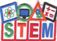 """STEM"" PATCH-Iron On Embroidered Applique/School, Learning, Science, Medical"