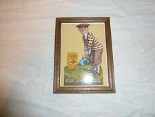 """W D & H O Wills gold flake cigarettes picture golf scene frame (approx 6"""" x 5"""")"""