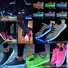cc51530cdc16 7 Color Women Men LED Light Up Shoes Luminous Kids Boys Girl USB Shoes  Sneakers