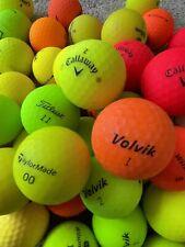 12 Matte Optic Golf Balls Callaway Volvik Wilson Titleist Taylormade Matt Dozen
