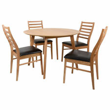 Oak Modern Table & Chair Sets with 5 Pieces