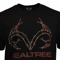 Men's Tee T Shirt XL 2XL Black Hunting Camping Shooting Camo Sleeve Deer USA NEW