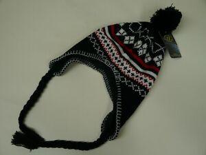 Highlander Nepali Hat Beanie Tassel Ear Panels Winter Warm Bobble One Size