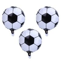 3x New 18'' Football Foil Balloons Soccer Ball Balloons for Home Party Decor UK