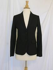 NWT J CREW Black 1035 Two Button Jacket Sz 00 Italian Stretch Wool 95961 Blazer