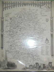 Original Antique Map of Wiltshire (c1845) Victorian County Map, Stonehenge